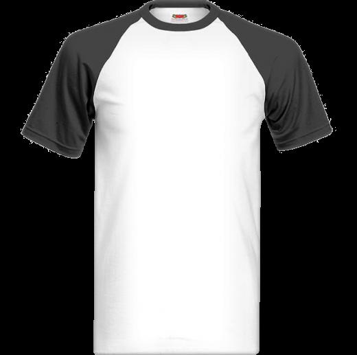 Bielo čierne tričko s farebnými krátkymi rukávmi