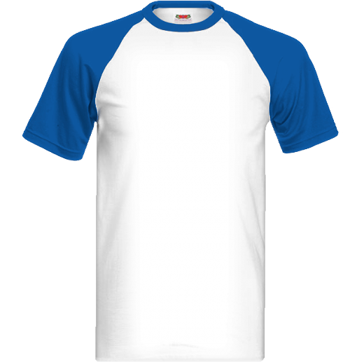 Modro biele tričko s farebnými krátkymi rukávmi