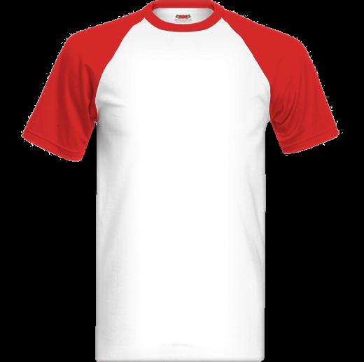 Červeno biele tričko s farebnými krátkymi rukávmi