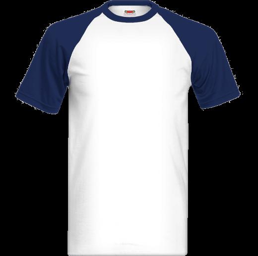 Tmavomodro biele tričko s farebnými krátkymi rukávmi