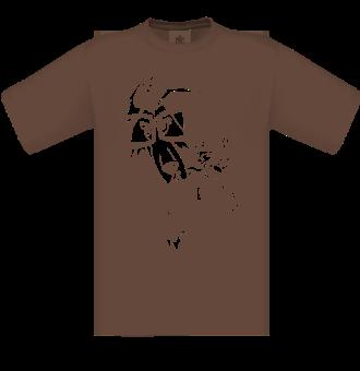 *P004 Pánske tričko Pes turista biela tlač