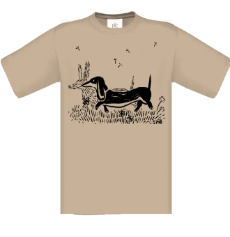 *P006 Pánske tričko Jazvečík čierna tlač