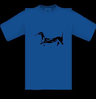 *P005 Pánske tričko Jazvečík biela tlač