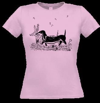 *P007 Dámske tričko čierna tlač