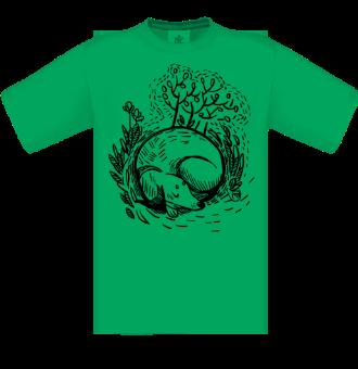 *P009 Pánske tričko čierna potlač
