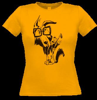 *P010 Dámske tričko čierna potlač