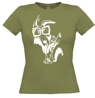 *P011 Dámske tričko biela potlač