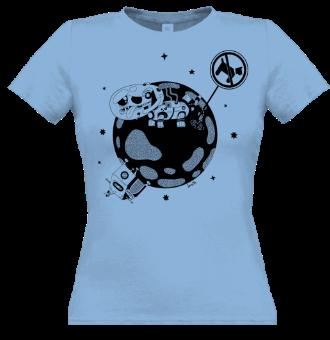 *P012 Dámske tričko s čiernou potlačou