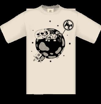 *P014 Pánske tričko s bielou potlačou