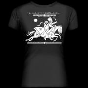Mesiačik svieti, smrťka beží. Čierne dámske tričko z kolekcie Pavol Dobšinský