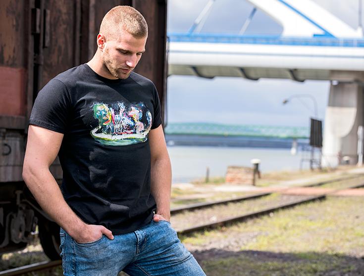 Pánske tričko Loď bláznov - Tričko s reprodukciou Mareka Ormandíka