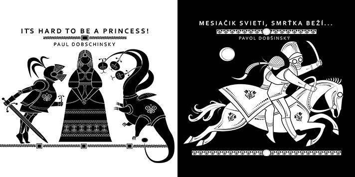 Čiernobiela rozpávková kolekcia ©Michal Hlatký. Enigmatické postavy ľudových rozprávok v humoristickom kontexte.